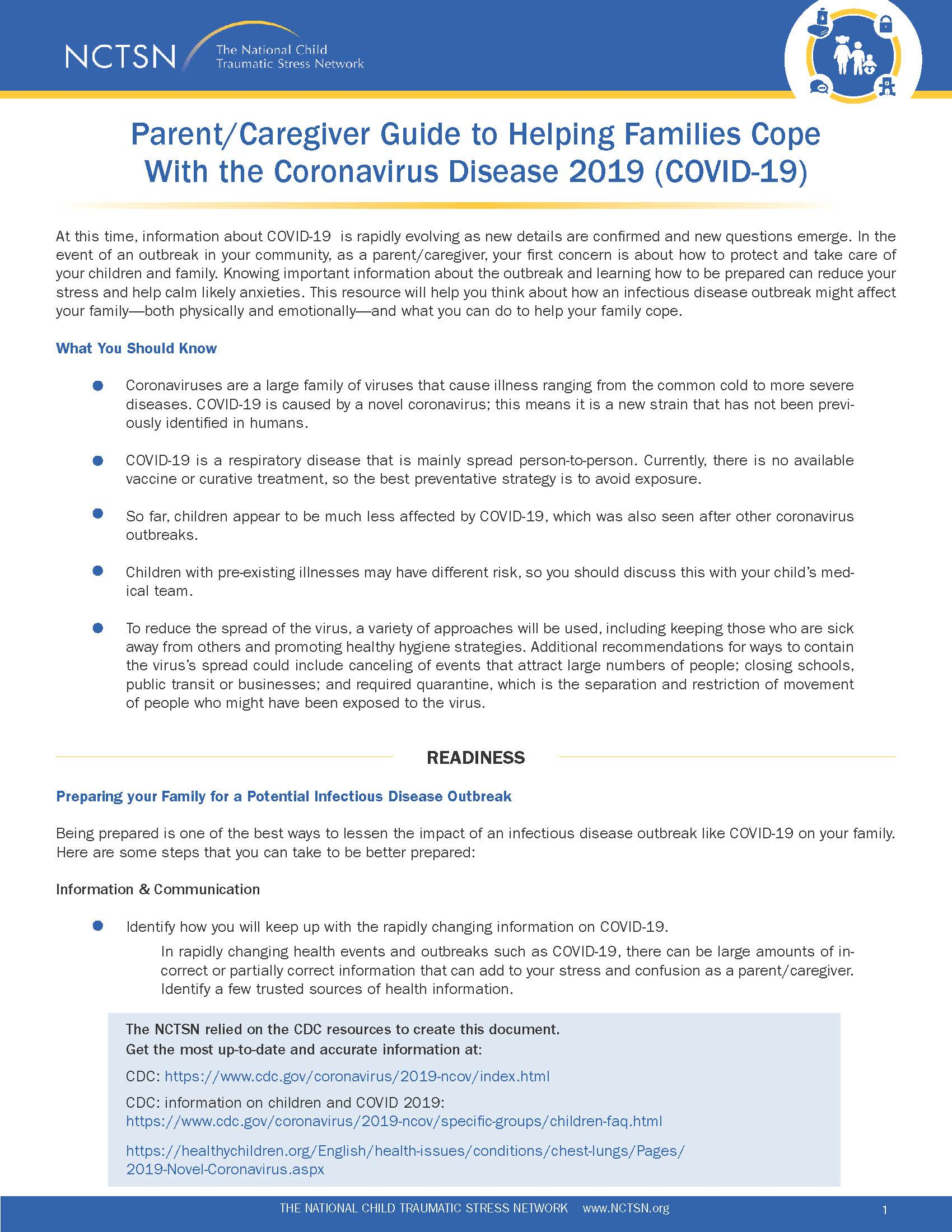 Caregiver Guide to Helping Families Cope with the Coronavirus Image